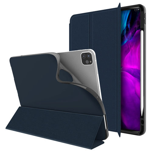 Trifold Sleep/Wake Smart Case for Apple iPad Pro 12.9-inch (4th Gen) - Blue