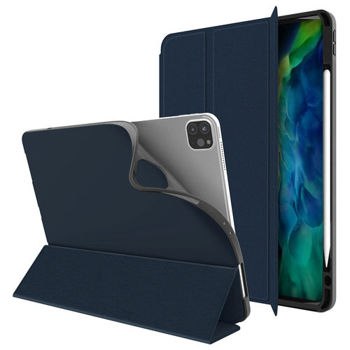 Trifold Sleep/Wake Smart Case & Stand for Apple iPad Pro 11-inch (2nd Gen) - Blue