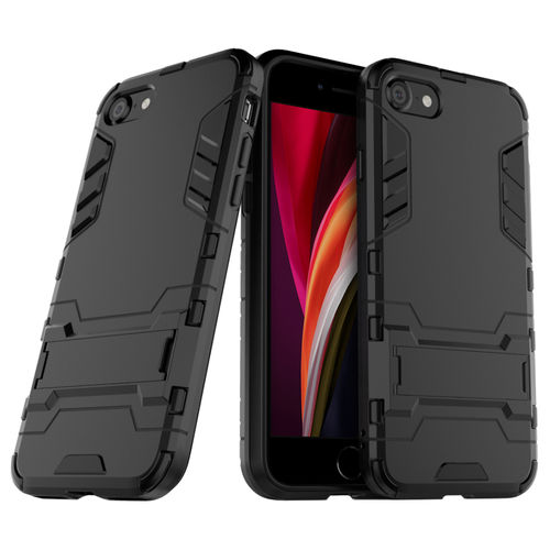 Slim Armour Shockproof Case & Stand for Apple iPhone 8 / 7 / SE (2nd Gen) - Black