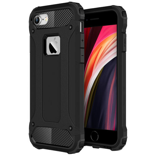 Military Defender Shockproof Case for Apple iPhone 8 / 7 / SE (2nd Gen) - Black
