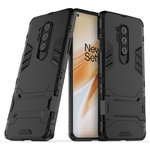 Slim Armour Tough Shockproof Case & Stand for OnePlus 8 Pro - Black