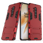 Slim Armour Tough Shockproof Case & Stand for OnePlus 8 Pro - Red