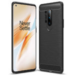Flexi Slim Carbon Fibre Case for OnePlus 8 Pro - Brushed Black