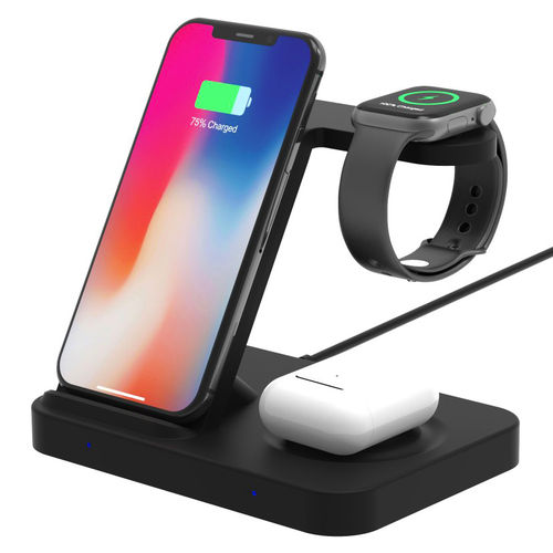 3-in-1 (15W) Qi Wireless Charging Stand for Phone / Apple Watch / AirPods Pro / Galaxy Buds