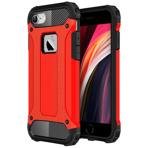 Military Defender Shockproof Case for Apple iPhone 8 / 7 / SE (2nd Gen) - Red