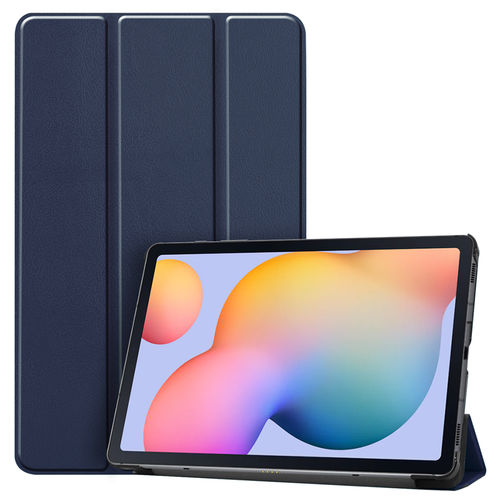 Trifold Sleep/Wake Smart Case for Samsung Galaxy Tab S6 Lite - Blue