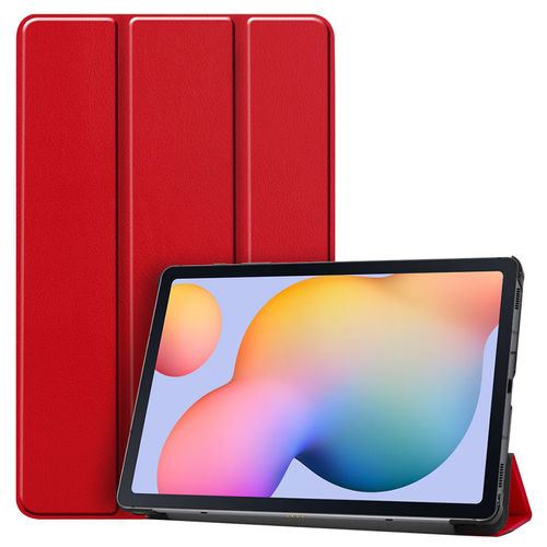 Trifold Sleep/Wake Smart Case for Samsung Galaxy Tab S6 Lite - Red