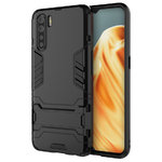 Slim Armour Tough Shockproof Case & Stand for Oppo A91 - Black