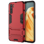 Slim Armour Tough Shockproof Case & Stand for Oppo A91 - Red