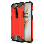 Military Defender Tough Shockproof Case for OnePlus 8 Pro - Red