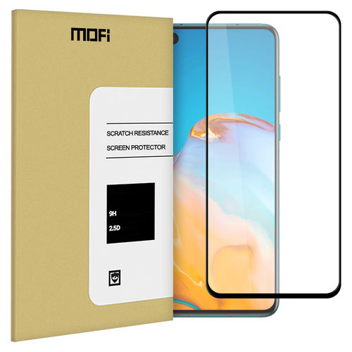 Full Coverage Tempered Glass Screen Protector for Huawei P40 - Black