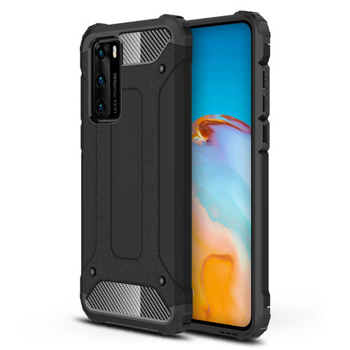 Military Defender Heavy Duty Shockproof Case for Huawei P40 - Black