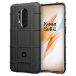 Anti-Shock Grid Texture Tough Case for OnePlus 8 Pro - Black