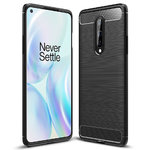 Flexi Slim Carbon Fibre Case for OnePlus 8 - Brushed Black