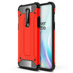 Military Defender Tough Shockproof Case for OnePlus 8 - Red