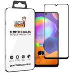Full Coverage Tempered Glass Screen Protector for Samsung Galaxy A31 - Black