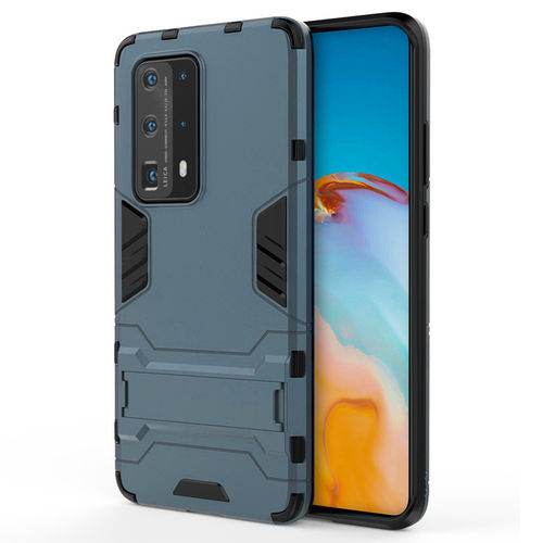 Slim Armour Tough Shockproof Case & Stand for Huawei P40 - Blue
