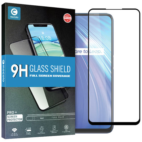 Mocolo Full Coverage Tempered Glass Screen Protector for realme 6 / 6 Pro - Black