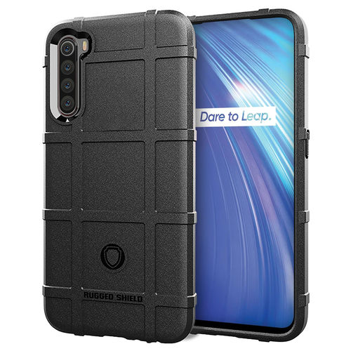 Anti-Shock Grid Texture Shockproof Case for realme 6 - Black