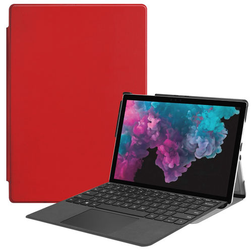 Slim Smart Case & Stand for Microsoft Surface Pro 4 / 5 / 6 / 7 - Red