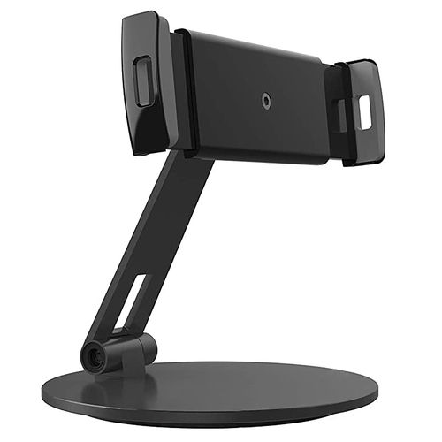 DeskMate (Circle Base) Aluminium Adjustable Stand Holder for iPad / Tablet / Phone