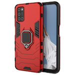 Slim Armour Tough Shockproof Case / Finger Ring Holder for Oppo A52 / A72 - Red