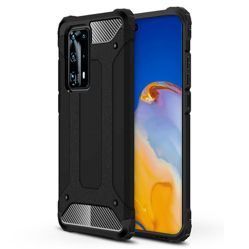 Military Defender Heavy Duty Shockproof Case for Huawei P40 Pro - Black