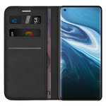 Leather Wallet Case & Card Holder Pouch for Vivo X50 Pro - Black