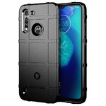 Anti-Shock Grid Texture Tough Case for Motorola Moto G8 Power Lite - Black