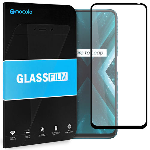 Full Coverage Tempered Glass Screen Protector for realme X3 SuperZoom - Black