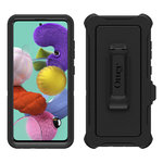 OtterBox Defender Shockproof Case & Belt Clip for Samsung Galaxy A51 - Black