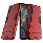 Slim Armour Tough Shockproof Case & Stand for OnePlus Nord - Red