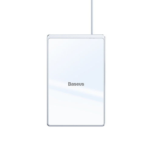 Baseus Card (15W) Ultra-thin Fast Wireless Charger Pad for Phone - White