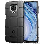 Anti-Shock Grid Texture Tough Case for Xiaomi Redmi Note 9 Pro - Black