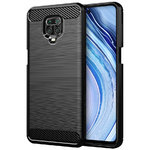 Flexi Slim Carbon Fibre Case for Xiaomi Redmi Note 9 Pro - Brushed Black