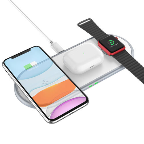 3-in-1 Wireless Charger Pad for Apple Watch Series 6 / Phone / AirPods