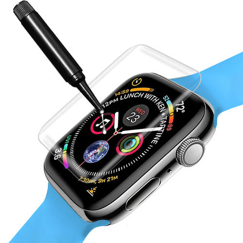 (2-Pack) UV Liquid Curved Tempered Glass Screen Protector for Apple Watch 44mm Series