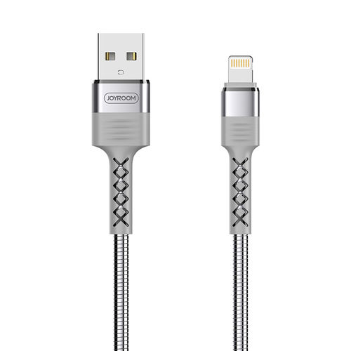 Joyroom Metal Stainless Steel USB Lightning Charging Cable (1.2m) for iPhone / iPad