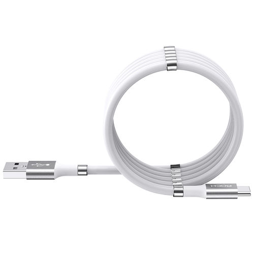 Rock Silicone USB Type-C Magnetic Self-Winding Cable (0.9m) for Phone / Tablet