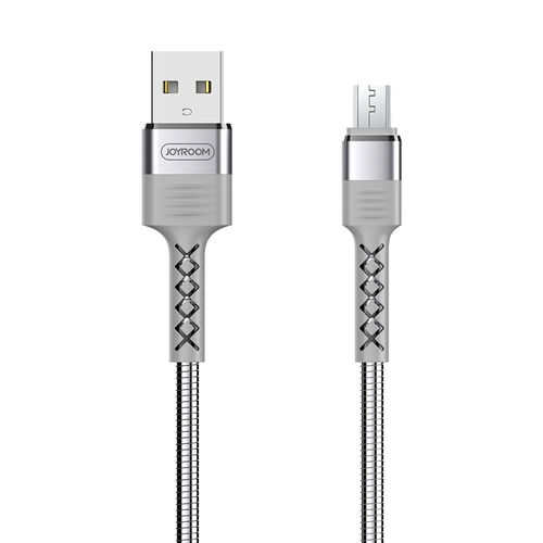 Joyroom Metal Stainless Steel Micro USB Charging Cable (1.2m) for Phone / Tablet