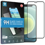 Full Coverage Tempered Glass Screen Protector for Apple iPhone 12 Mini - Black