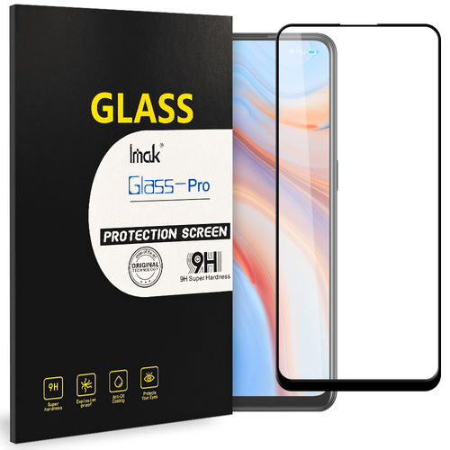 Imak Full Coverage Tempered Glass Screen Protector for Oppo Reno4 5G - Black