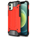 Military Defender Tough Shockproof Case for Apple iPhone 12 Mini - Red