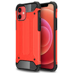 Military Defender Tough Shockproof Case for Apple iPhone 12 / 12 Pro - Red