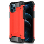 Military Defender Tough Shockproof Case for Apple iPhone 12 Pro Max - Red