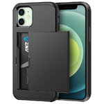 Tough Armour Slide Case & Card Holder for Apple iPhone 12 Mini - Black