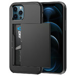 Tough Armour Slide Case & Card Holder for Apple iPhone 12 Pro Max - Black