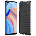 Flexi Slim Carbon Fibre Case for Oppo Reno4 5G - Black (Pattern)