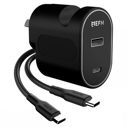 EFM (30W) Dual USB / PD Type-C / Fast Charger / Wall Stand for Phone / Tablet