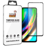 Full Coverage Tempered Glass Screen Protector for Motorola Moto G9 Plus - Black